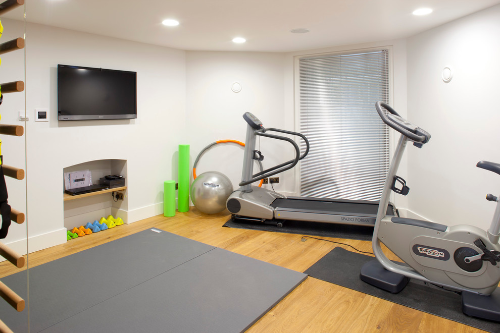 Gym room ideas for home home gym contemporary with workout equipment